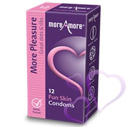 MoreAmore - Kondomi, Fun Skin, 12 kpl