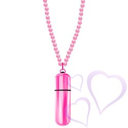 MiVibe Necklace Pink Beads & Pink Bullet / E22596.jpg