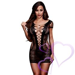 Baci - Corset Front Lace Mini Dress, One Size / E25261.jpg