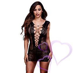 Baci - Ultra Corset Lace Up Cut Out Mini Dress, One Size / E25268.jpg