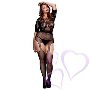 Baci - Crotchless Suspender Bodystocking, Queen Size / E25274.jpg
