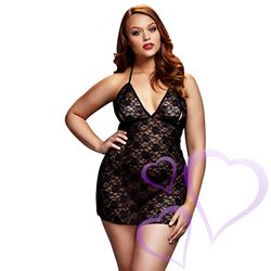 Baci - Black Lace Babydoll, Queen Size / E27057.jpg