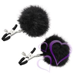 Sportsheets - Sincerely Fur Nipple CLips, Black / E28907.jpg