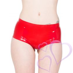 Latex Mini French Knicker, punainen / HNR-R1364.REDS.jpg